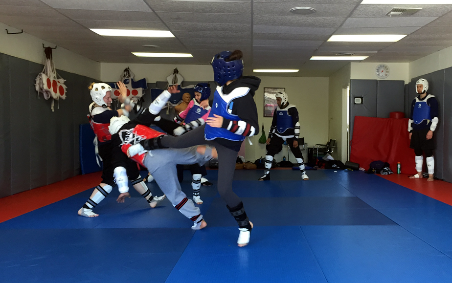 Sparring Action!