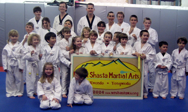 Participants in the MSMAP Winter Taekwondo Promotion Exam