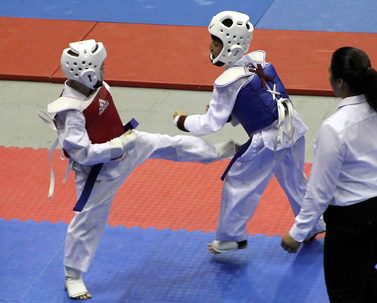 Bronze Medal Sparring Action