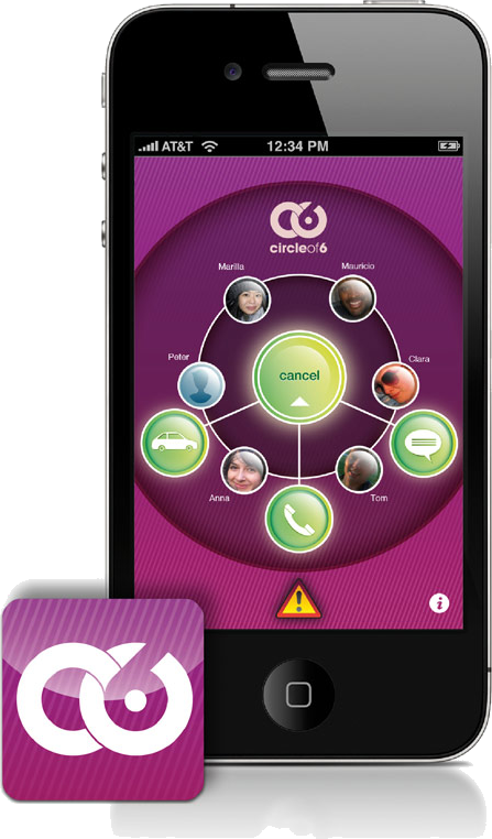 Circle of 6 App Screenshot